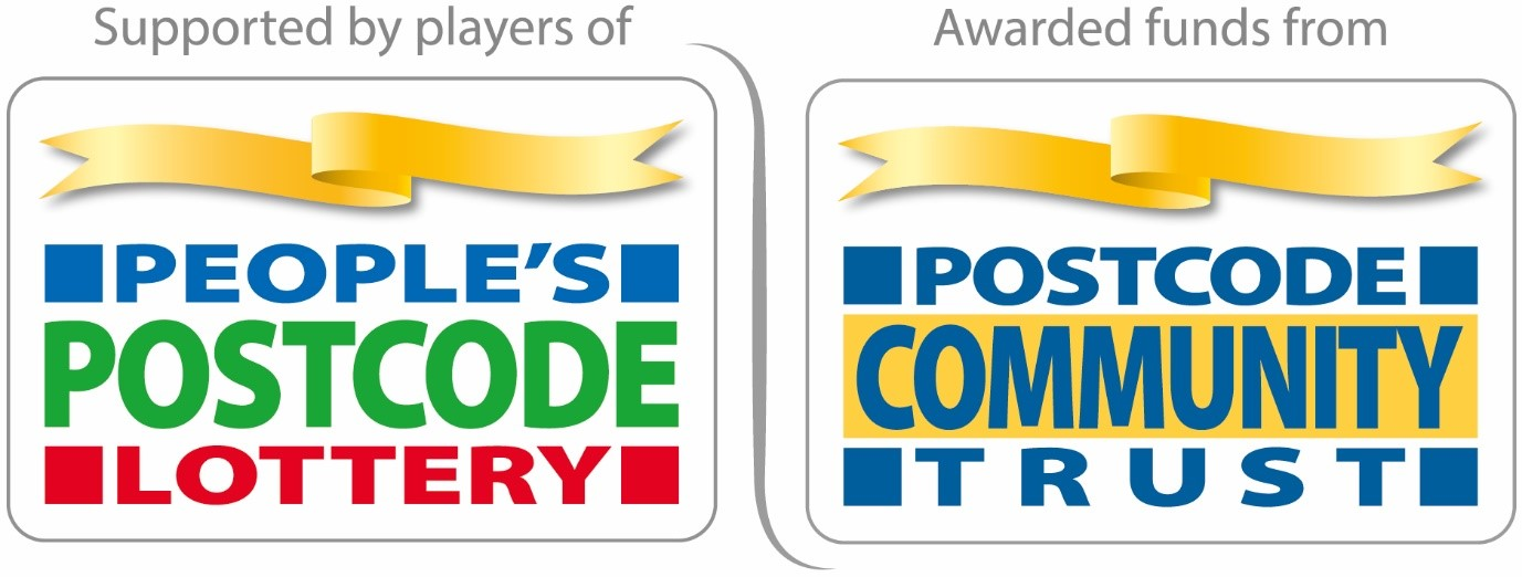 Logo for the Peoples Postcode Lottery and PostCode Community Trust